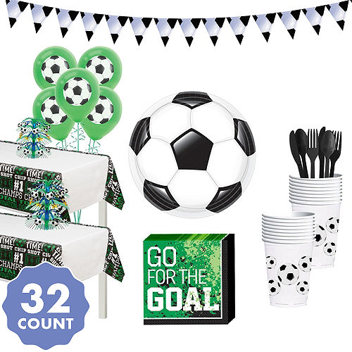 200a89a6d1f Soccer Deluxe Tableware Kit for 32 Guests