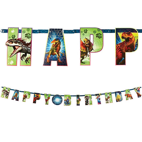 Birthday Candles Dollar Tree Jurassic World Banner Kit