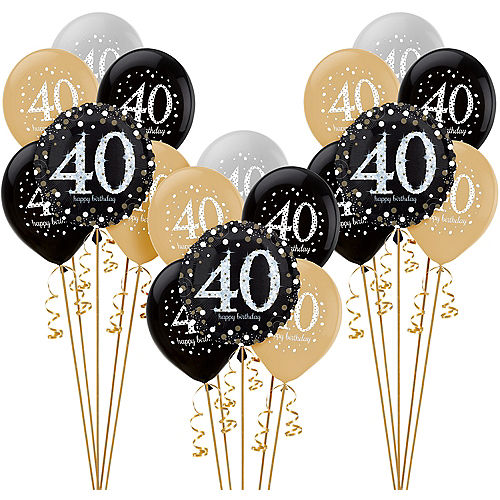 Sparkling Celebration 40th Birthday Balloon Kit