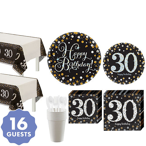 Sparkling Celebration 30th Birthday Party Kit For 16 Guests