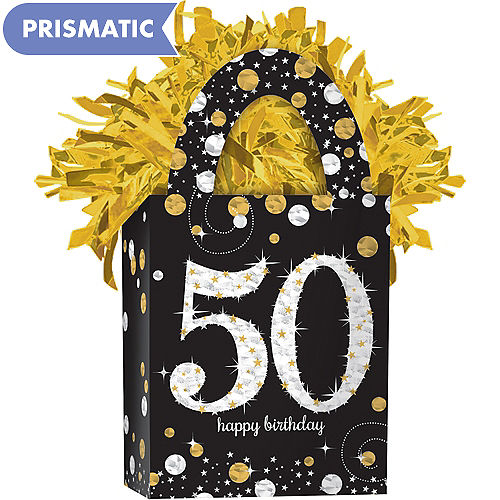 Prismatic 50th Birthday Balloon Weight