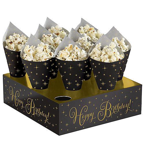 Black Gold Birthday Snack Cone Kit 40ct