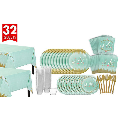 Mint To Be Bridal Shower Tableware Kit for 32 Guests