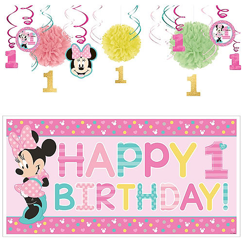 1st Birthday Minnie Mouse Decorating Kit