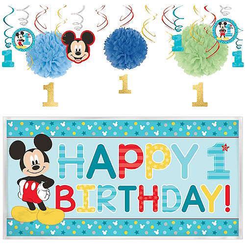 1st Birthday Mickey Mouse Decorating Kit