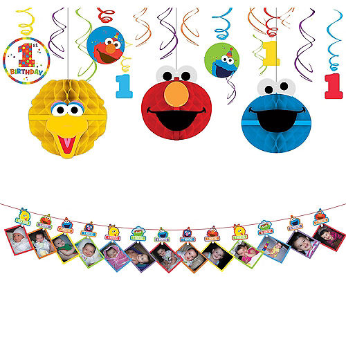 1st Birthday Elmo Decorating Kit