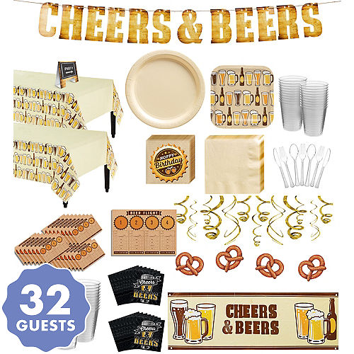 Cheers Beers Premium Party Kit For 32 Guests