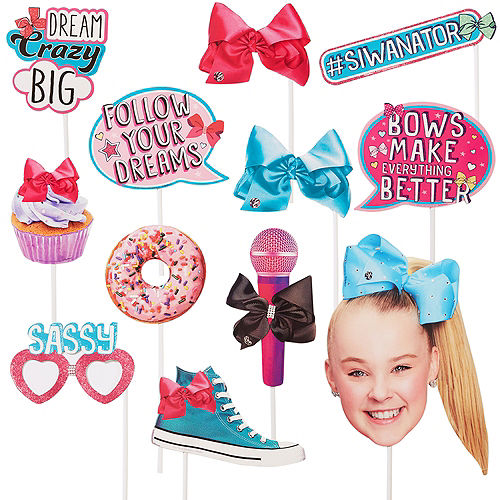JoJo Siwa Photo Booth Props 12pc