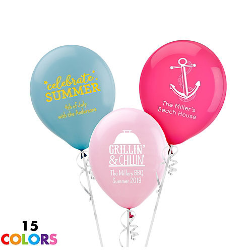 Personalized Summer Latex Small Balloon
