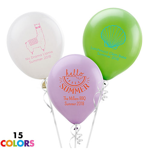 Personalized Summer Latex Balloon