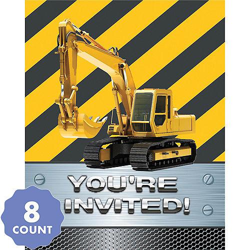 Construction Zone Invitations 8ct