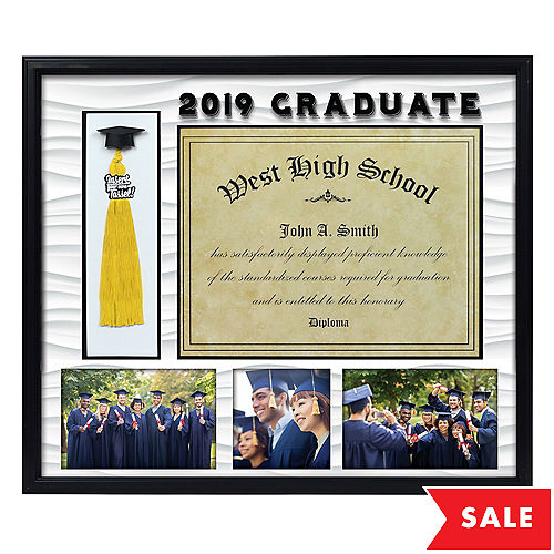 Black Graduation Photo, Diploma, & Tassel Frame 18in x 15 1/2in ...