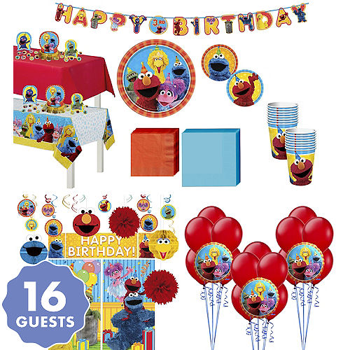 Sesame Street Tableware Ultimate Kit For 16 Guests