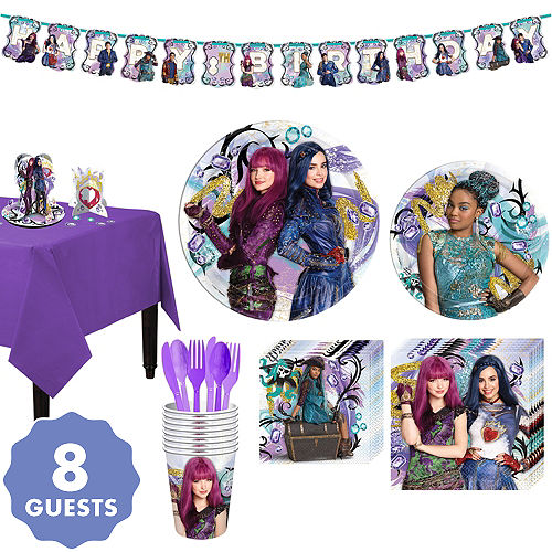 Descendants 2 Tableware Party Kit For 8 Guests