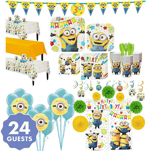 Minions Tableware Ultimate Kit For 24 Guests