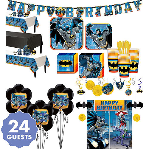 Batman Tableware Ultimate Kit For 24 Guests