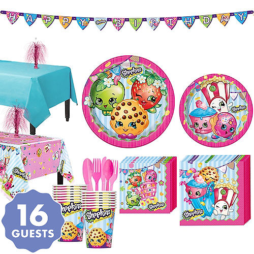 Shopkins Tableware Party Kit For 16 Guests