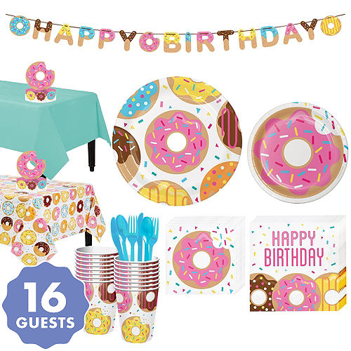 Donut Tableware Party Kit For 16 Guests