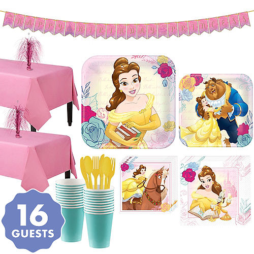 Beauty And The Beast Tableware Party Kit For 16 Guests