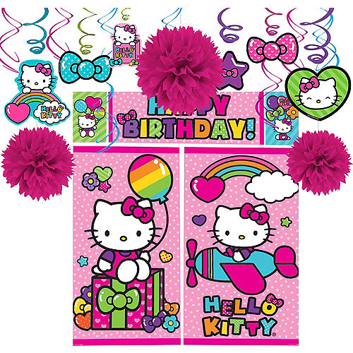 Rainbow Hello Kitty Decorating Kit