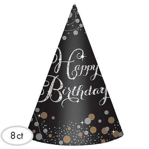 Sparkling Celebration Birthday Party Hats 8ct