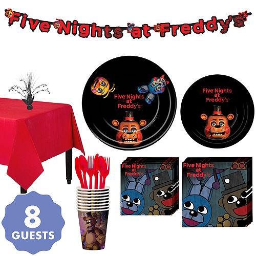 Five Nights At Freddys Tableware Party Kit For 8 Guests