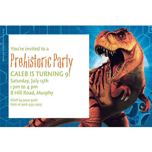 Jurassic World Birthday Invitations Templates Custom Invitation