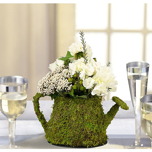 Moss Watering Can Decoration