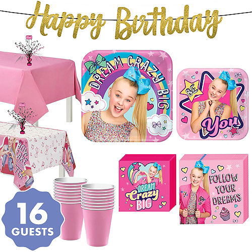 JoJo Siwa Basic Party Kit For 16 Guests