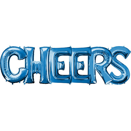 giant blue cheers letter balloon kit 7pc