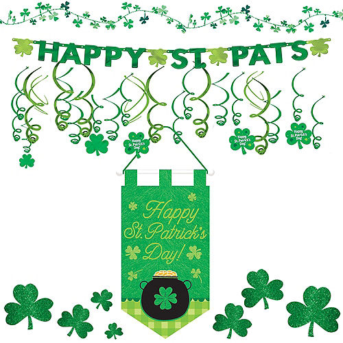 0dab44aad Happy St. Patrick's Day Shamrock Super Decorating Kit