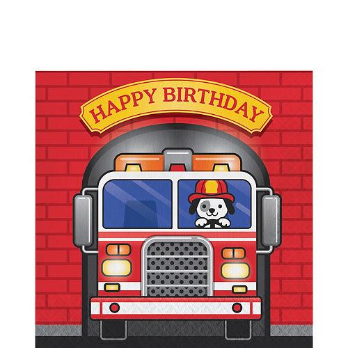 Fire Truck Birthday Lunch Napkins 16ct