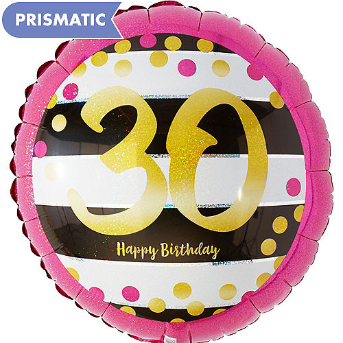 Prismatic Pink Gold 30th Birthday Balloon 17 1 2in