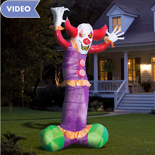 Light Up Inflatable Evil Clown