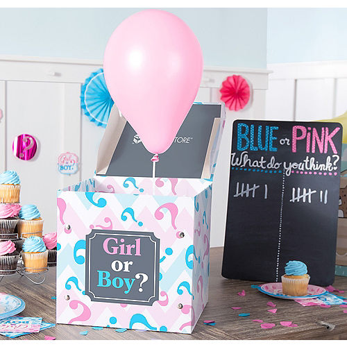 Small Pink Blue Gender Reveal Box