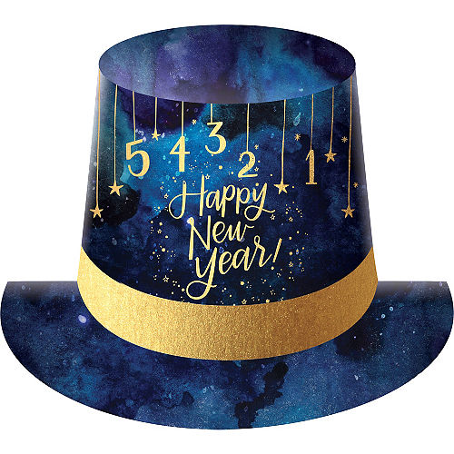 midnight new years eve top hat