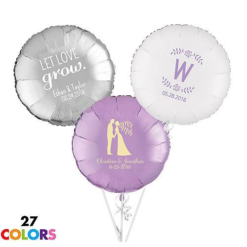 Personalized Wedding Round Balloon