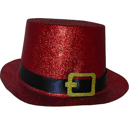 Glitter Red Top Hat 475fca252170