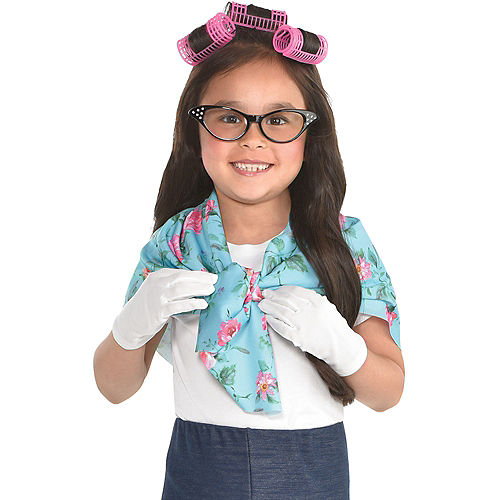 c3792750c5 Girls 100th Day of School Grandma Costume Accessory Kit