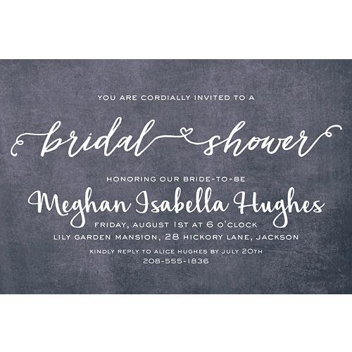 6264c0a67fee Custom Scripty Bridal Shower Invitations