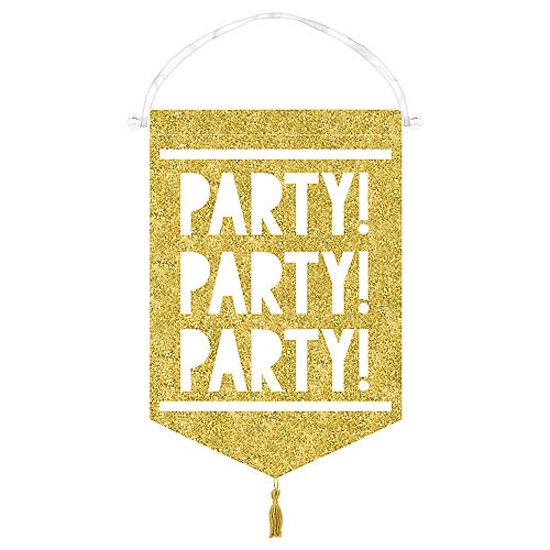 Glitter Gold Canvas Sign Of The Times Party
