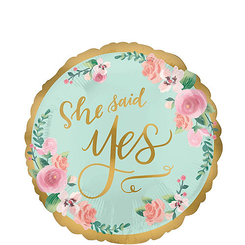 mint to be bridal shower balloon