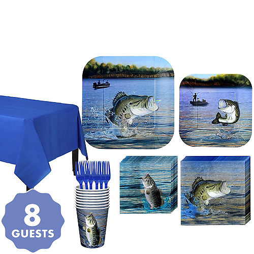 Fishing Tableware Kit For 8 Guests