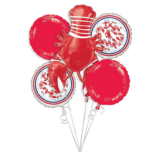 Seafood Summer Balloon Bouquet 5pc