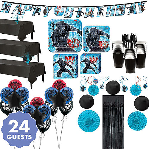 Ultimate Black Panther Party Kit For 24 Guests