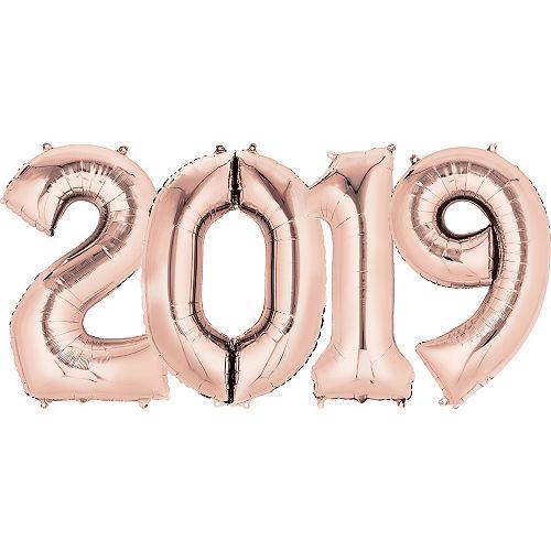 34in Rose Gold 2019 Number Balloon Kit