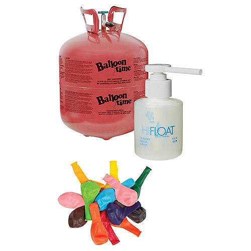 Balloon Time Large Helium Tank 149cu Ft Kit With Balloons Hi Float