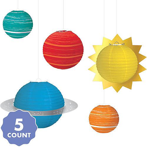 Blast Off Planet Paper Lanterns 5ct