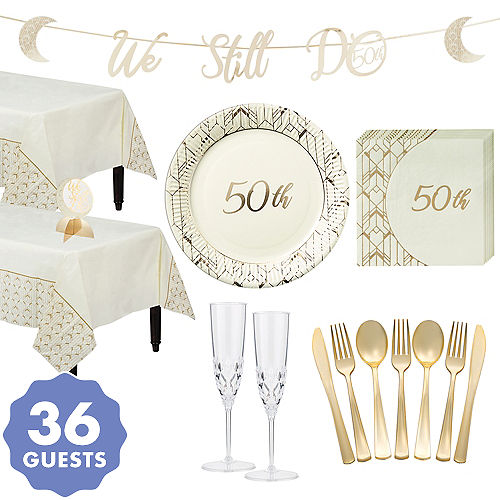 Swell Golden 50Th Wedding Anniversary Party Supplies 50Th Download Free Architecture Designs Embacsunscenecom