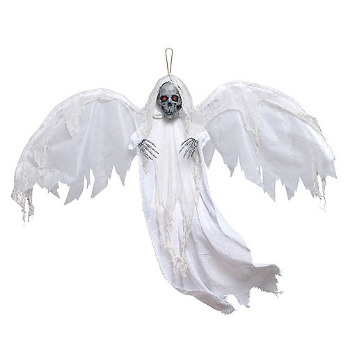 Light-Up White Winged Reaper Decoration